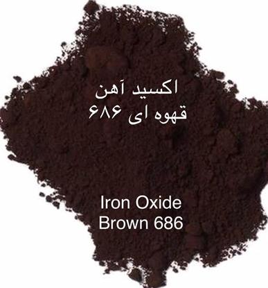 تصویر اکسید آهن قهوه ای