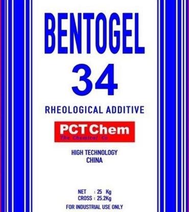 تصویر بنتوژل   34    organically modified bentonite